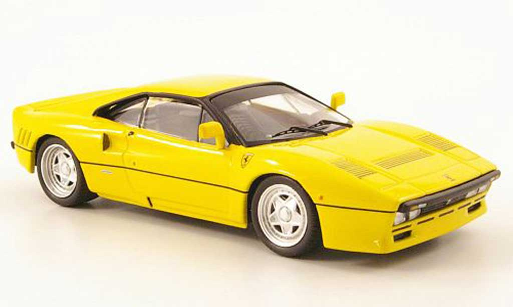 Ferrari 288 GTO 1/43 IXO GTO yellow 1984 diecast model cars