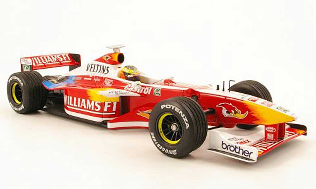 Ford F1 1/18 Minichamps williams fw21 no.6 showcar 1999 r.schumacher miniature