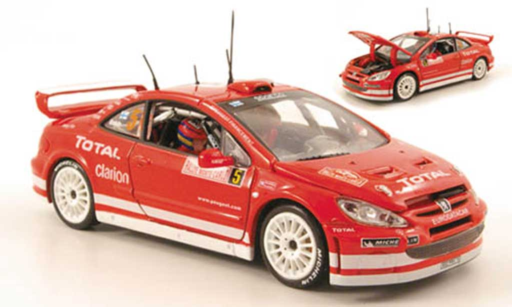 Peugeot 307 WRC 1/43 Vitesse No.5 Total Rally Monte Carlo 2004 diecast model cars