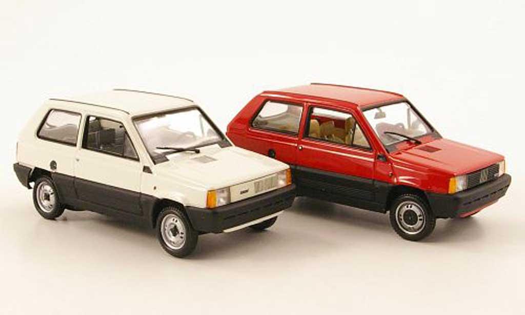 Fiat Panda 1/43 Minichamps 2er-Set 30 Jahre Jubilaum 1980 - 2010 miniature
