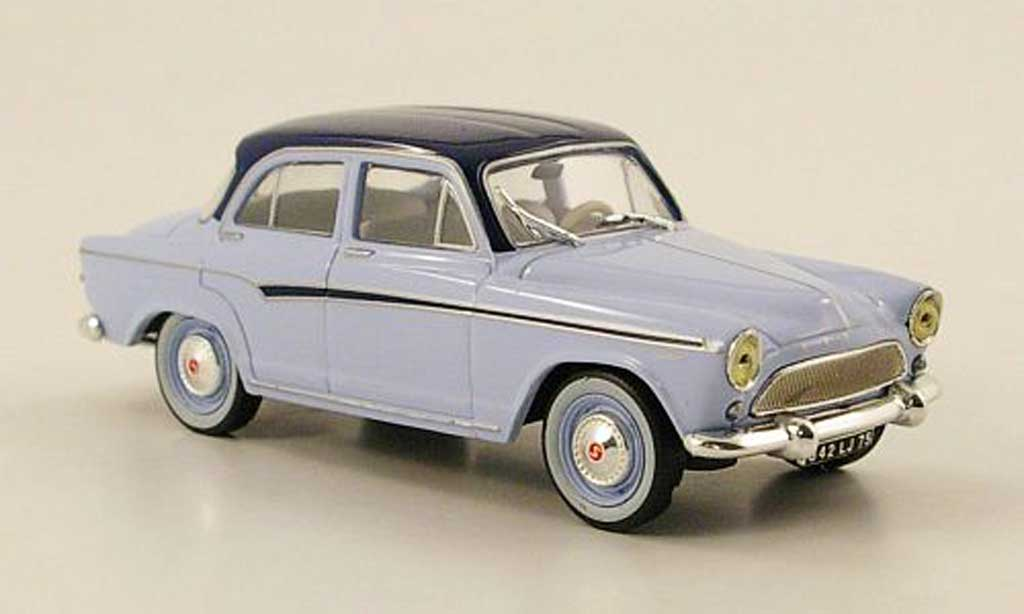 Simca P 60 1/43 Nostalgie Elysee bleu clair/noire-bleu 1958 miniature
