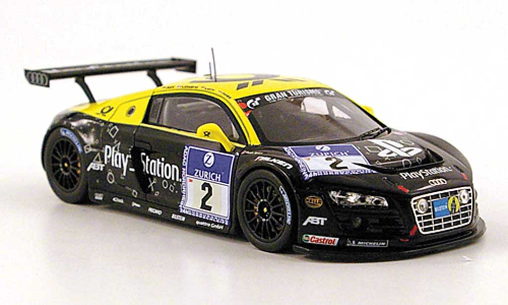 Audi R8 LMS 1/43 Spark No.2 PlayStation 24h Nurburgring 2010 modellino in miniatura