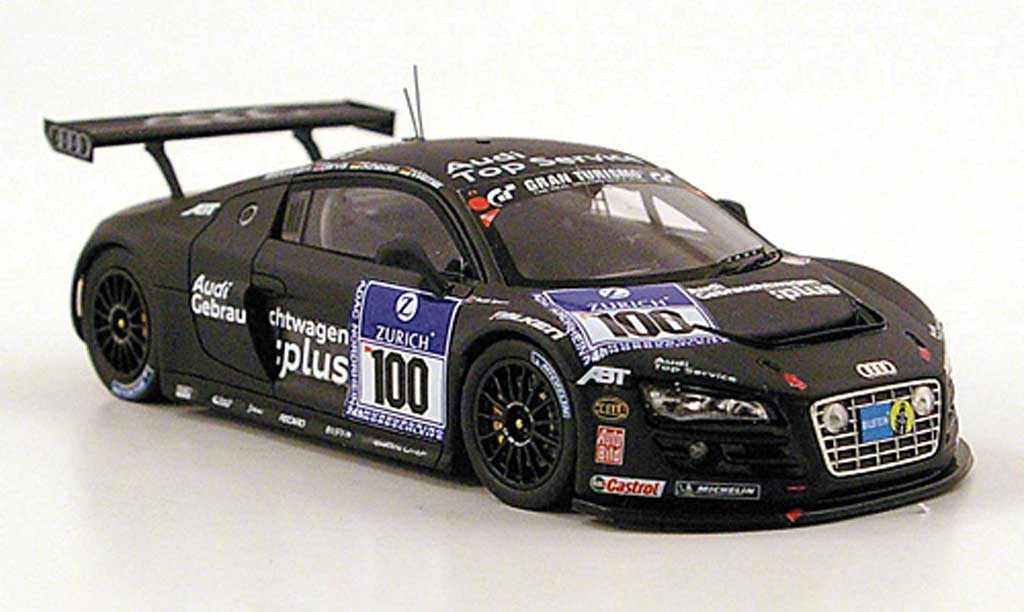 Audi R8 LMS 1/43 Spark No.100 Top Service 24h Nurburgring 2010 modellino in miniatura