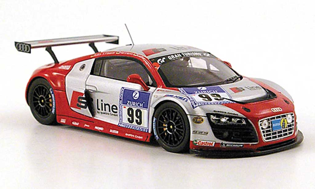 Audi R8 LMS 1/43 Spark No.99 S Line 24h Nurburgring 2010 modellino in miniatura