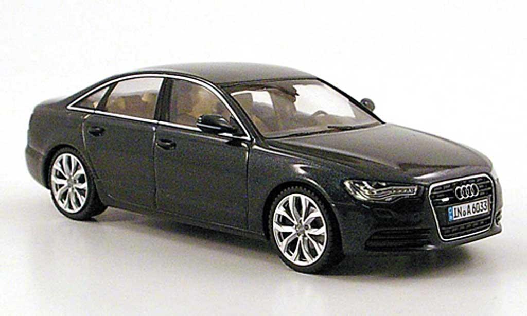 Audi A6 1/43 Schuco (C7) bleu-gris 2011 miniature