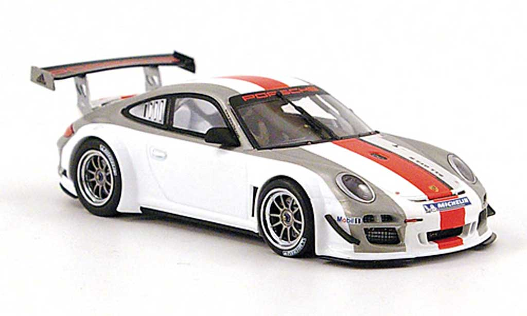 Porsche 997 GT3 1/43 Minichamps R grey /white/red diecast model cars
