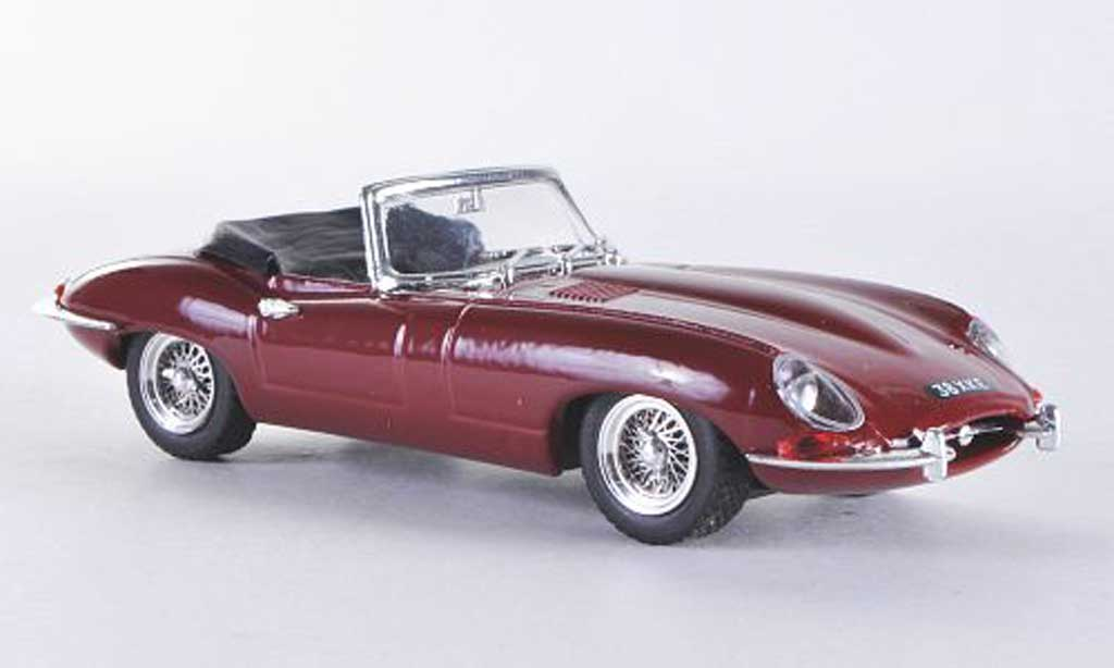 Jaguar E-Type 1/43 Best Roadster rouge RHD geoffnetes Verdeck miniature