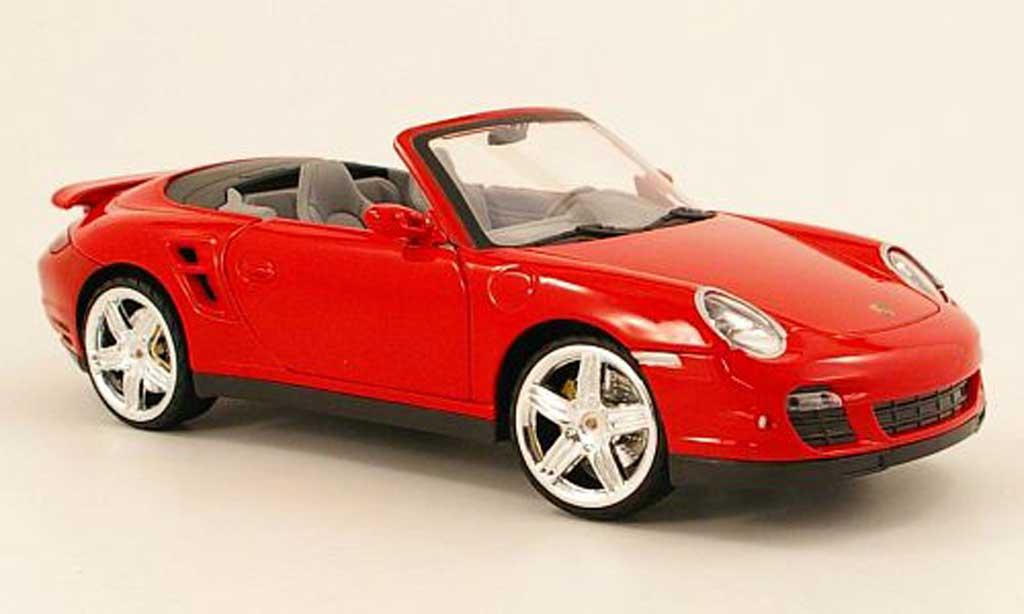 porsche 997 turbo cabriolet miniature rouge mondo motors 1 18 voiture. Black Bedroom Furniture Sets. Home Design Ideas