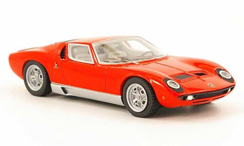 Lamborghini Miura S 1/43 Look Smart red Motorshow Paris 1968 diecast model cars