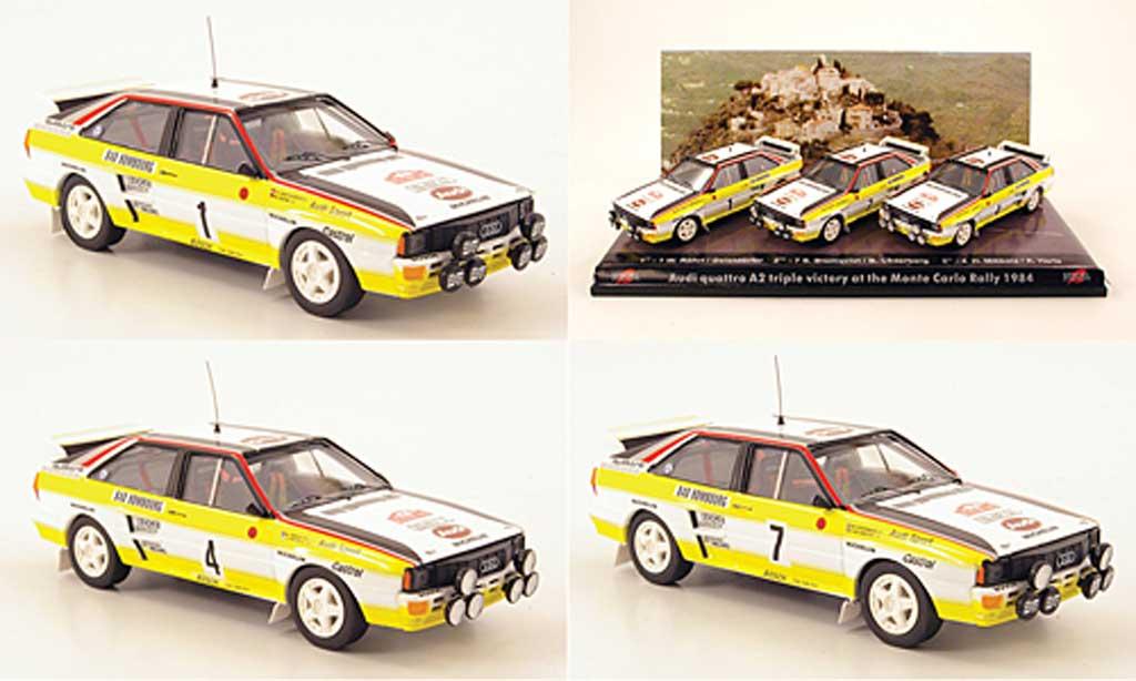 Audi Quattro 1/43 Trofeu 3er-Set: A2 Dreifachsieg Rally Monte Carlo 1984 diecast model cars