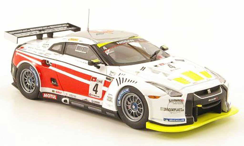 Nissan Skyline 1/43 Ebbro GT-R GT1 No.4 Swiss Racing Team 2010 miniature