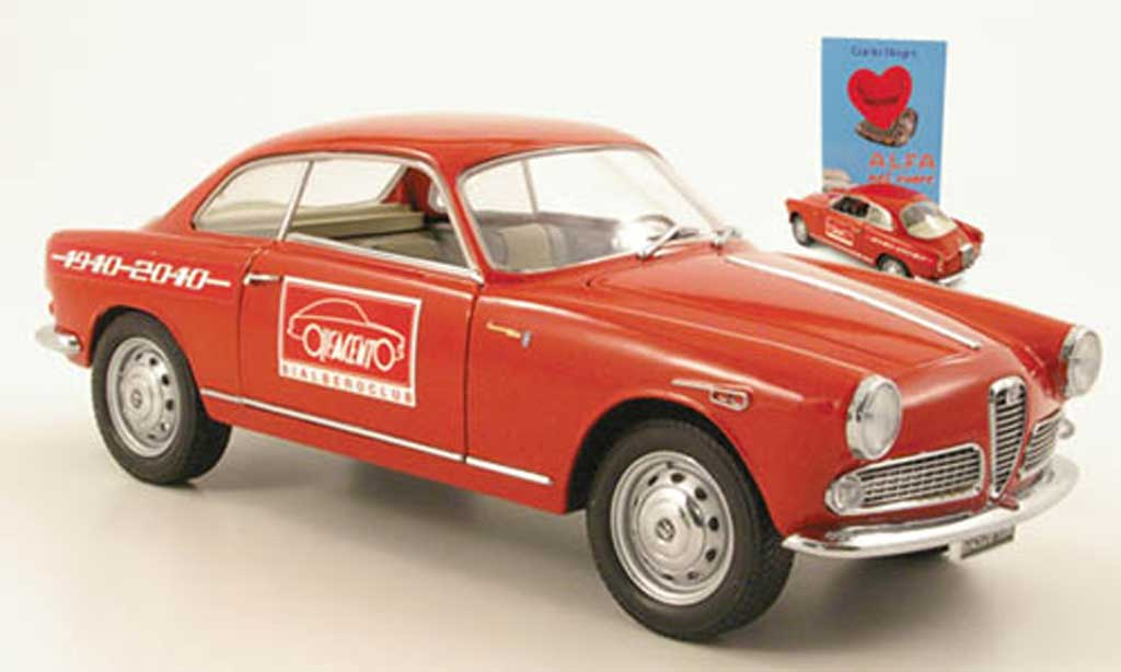 Alfa Romeo Giulietta 1/18 Mini Miniera sprint rouge 100 ans