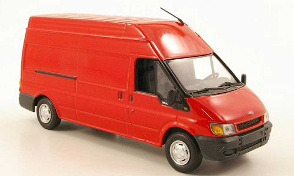 Ford Transit 1/43 Minichamps Kastenwagen rouge 2000 miniature