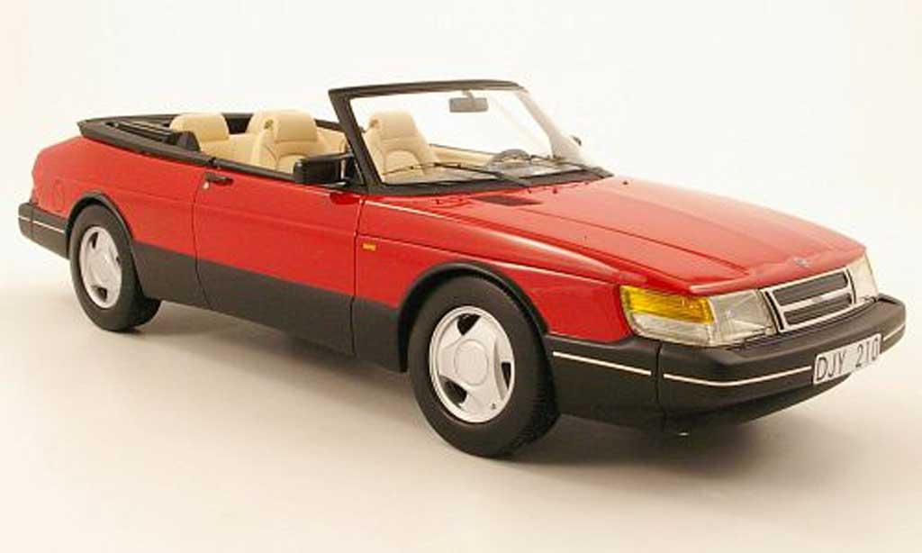 Saab 900 1/18 Neo cabriolet rouge noire 1987 miniature