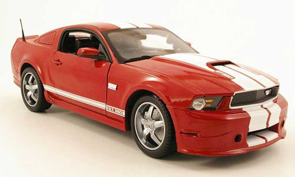 Shelby GT 350 2011 1/18 Shelby Collectibles  rouge blanche miniature