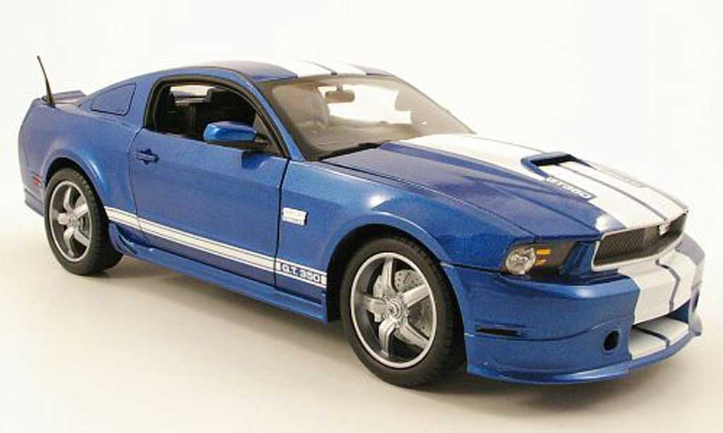 Miniature Shelby GT 350 2011  bleu blanche Shelby Collectibles. Shelby GT 350 2011  bleu blanche miniature 1/18