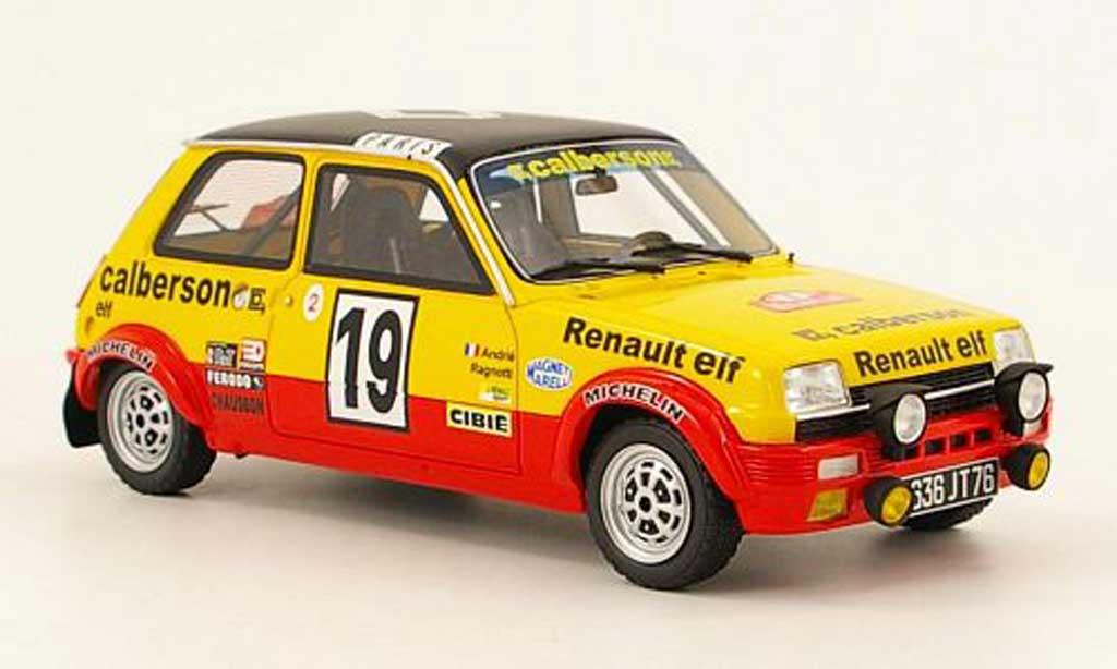Renault 5 Alpine 1/18 Ottomobile no.19 calberson rallye monte carlo 1978 ragnotti/andre miniature