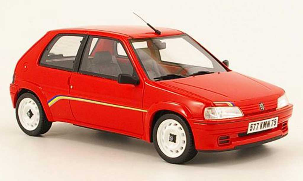 peugeot 106 rallye miniature phase 1 rouge ottomobile 1 18 voiture. Black Bedroom Furniture Sets. Home Design Ideas