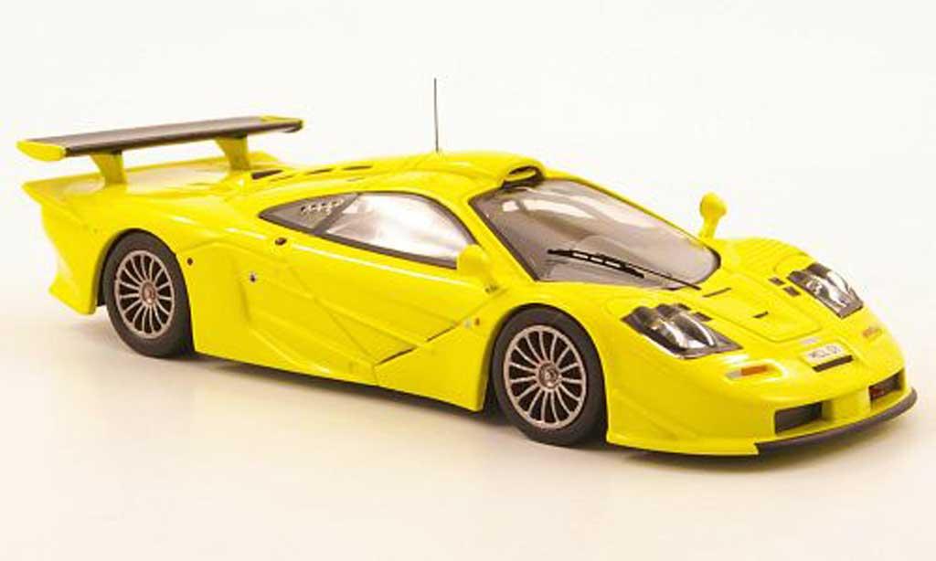 McLaren F1 1/43 IXO GTR Long Tail jaune Homologationsmodell 1997 miniature