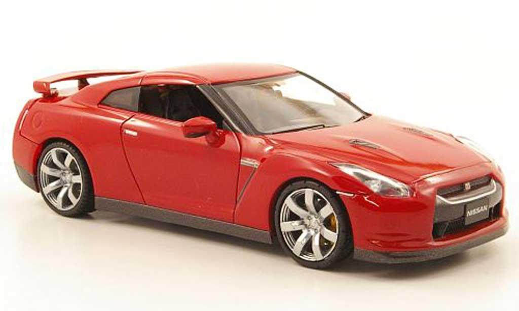 Miniature Nissan Skyline GT-R rouge LHD 2007 Fujimi. Nissan Skyline GT-R rouge LHD 2007 miniature 1/43