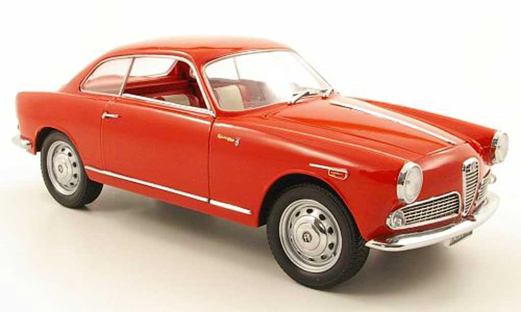 Alfa Romeo Giulietta 1/18 Mini Miniera sprint rouge miniature
