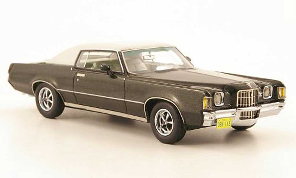 pontiac grand prix miniature hardtop coupe noire vert blanche 1972 neo 1 43 voiture. Black Bedroom Furniture Sets. Home Design Ideas