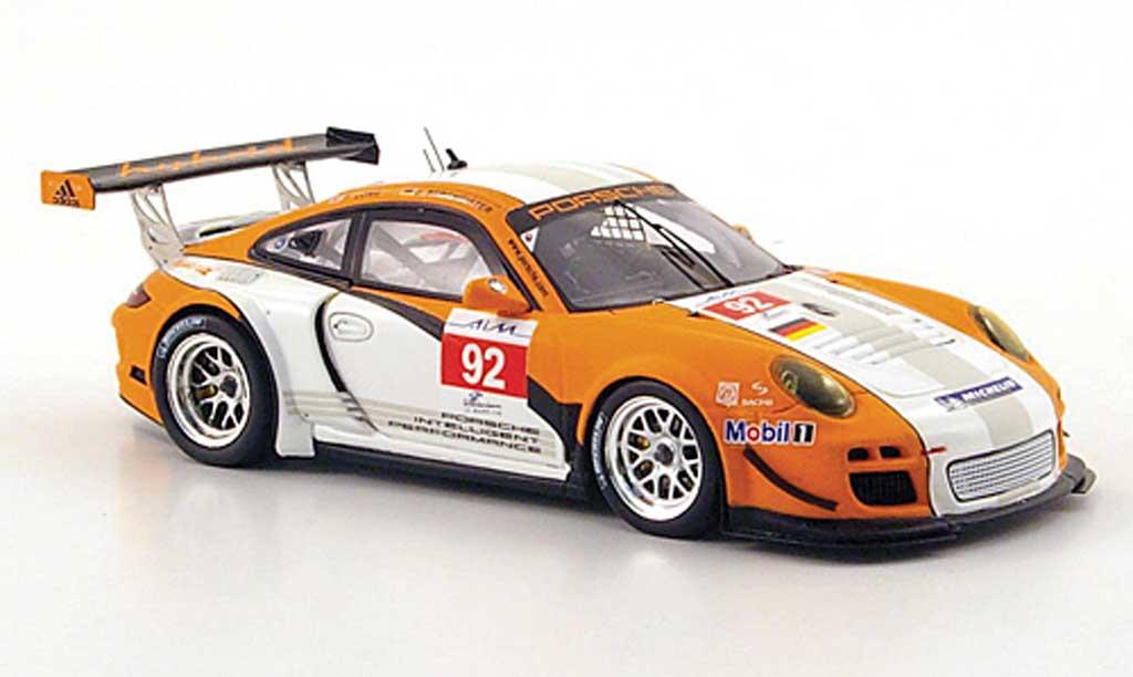 Porsche 997 GT3 1/43 Spark R hybrid No.92 ILMC 1000km Zhuhai 2010 diecast model cars