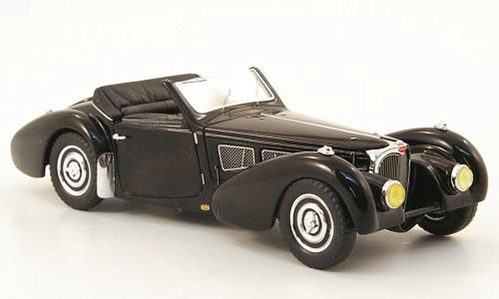Miniature Bugatti 57 S Gangloff noire 1937 Spark. Bugatti 57 S Gangloff noire 1937 miniature 1/43