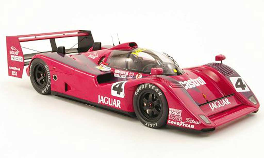 Jaguar XJ R14 1/18 Spark no.4 silk cut d.warwick/a.wallace le mans test 1991 diecast model cars