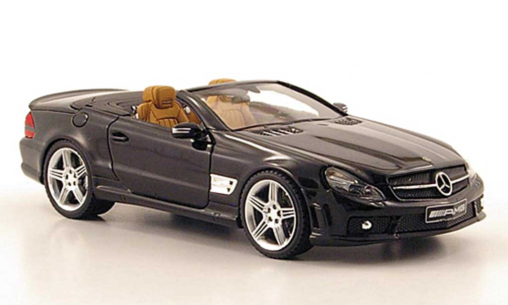 mercedes sl 65 amg black absolute hot diecast model car 1. Black Bedroom Furniture Sets. Home Design Ideas