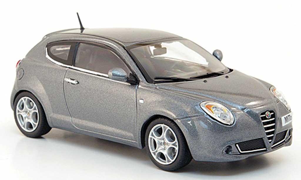 Alfa Romeo Mito 1/43 Minichamps grey 2009 diecast model cars