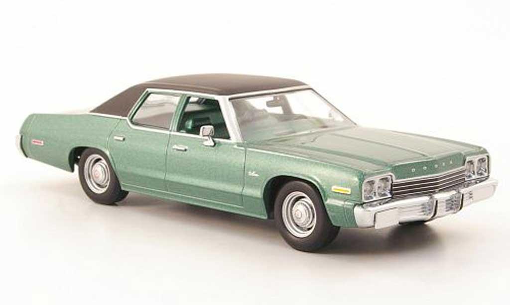 Dodge Monaco 1974 1/43 Minichamps verte/noire 1974 miniature