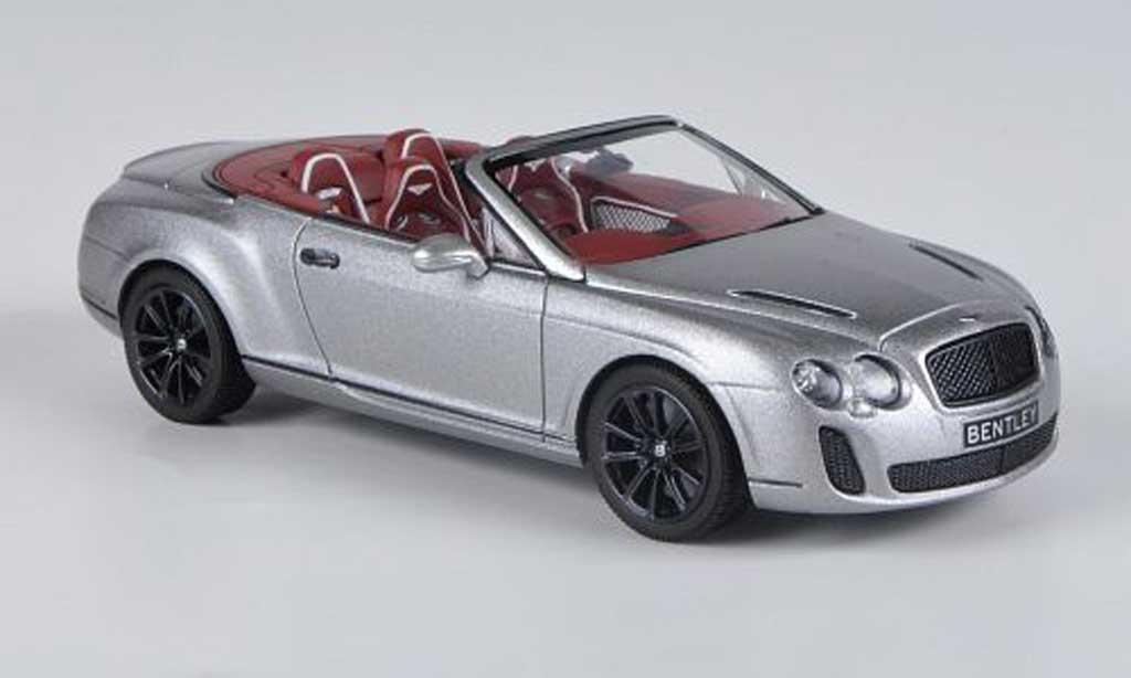 Bentley Continental 1/43 Minichamps Supersports Convertible matt-grise 2010 miniature