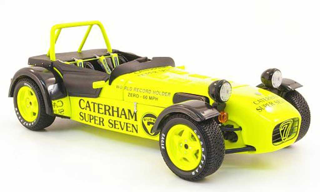 Caterham Super Seven 1/18 Kyosho jpe jaune miniature