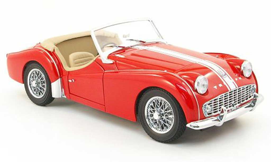 triumph tr3 a miniature rouge kyosho 1 18 voiture. Black Bedroom Furniture Sets. Home Design Ideas