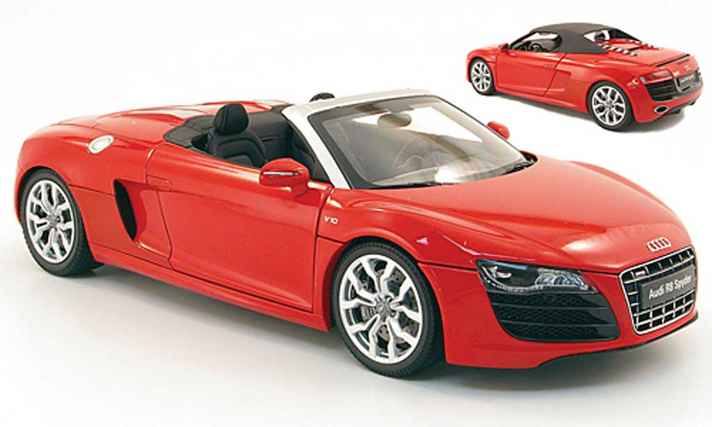 audi r8 spyder miniature v10 5 2 fsi rouge kyosho 1 18 voiture. Black Bedroom Furniture Sets. Home Design Ideas