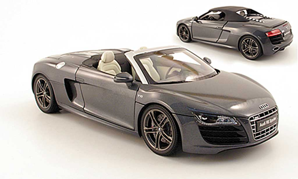 audi r8 spyder 5 2 fsi grau kyosho modellauto 1 18 kaufen verkauf modellauto online. Black Bedroom Furniture Sets. Home Design Ideas
