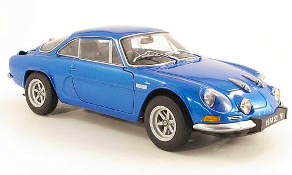 Alpine A110 1/18 Kyosho 1600SC bleu 1974 diecast model cars