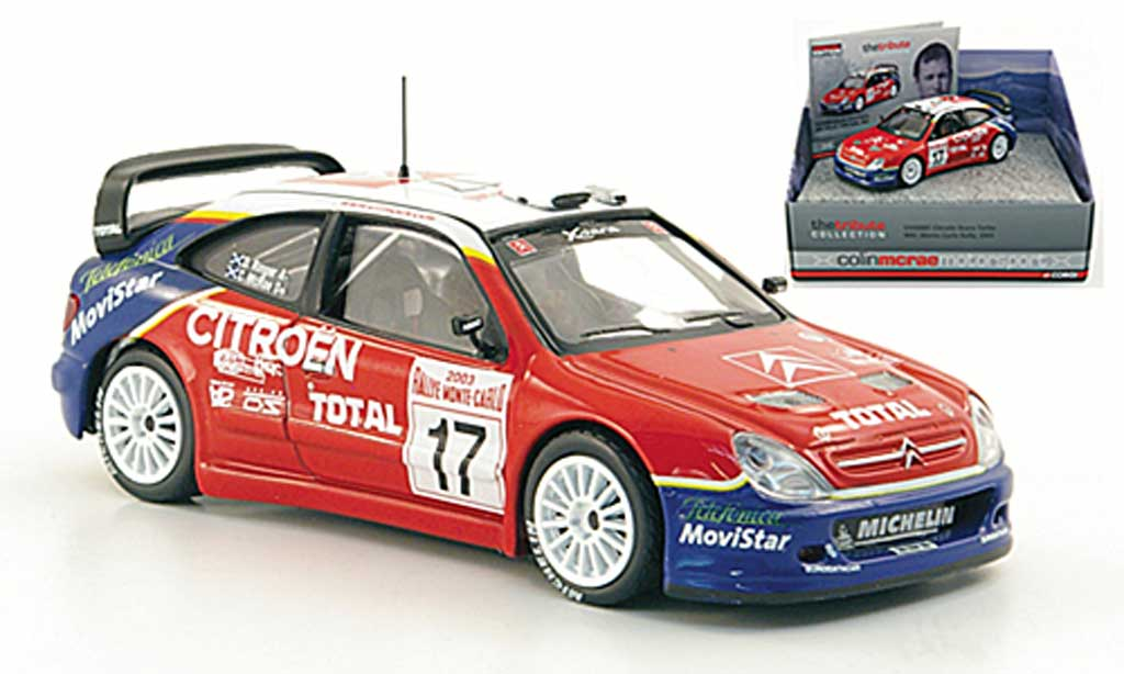 Citroen Xsara WRC 2003 1/43 Vanguards Turbo No.17 Total McRae/Ringer Rally Monte Carlo miniature