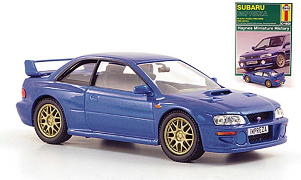 Subaru Impreza WRX 1/43 Corgi STI bleu RHD miniature