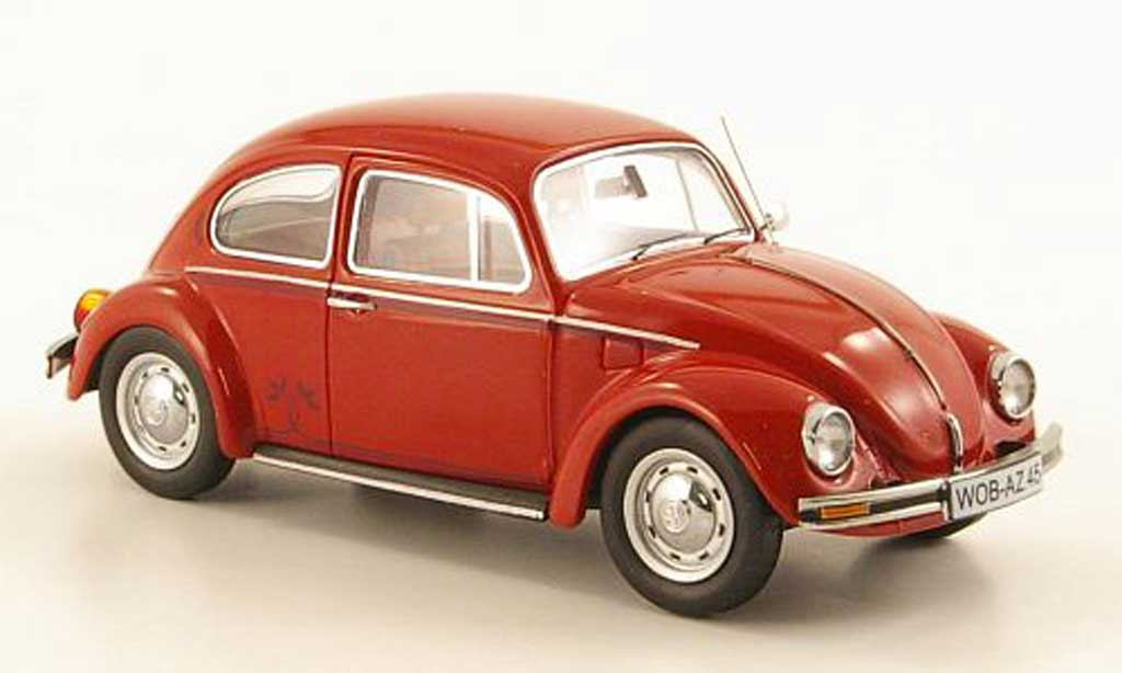 Volkswagen Kafer 1/43 Schuco 1200 rouge ''Der Samtrougee'' miniature
