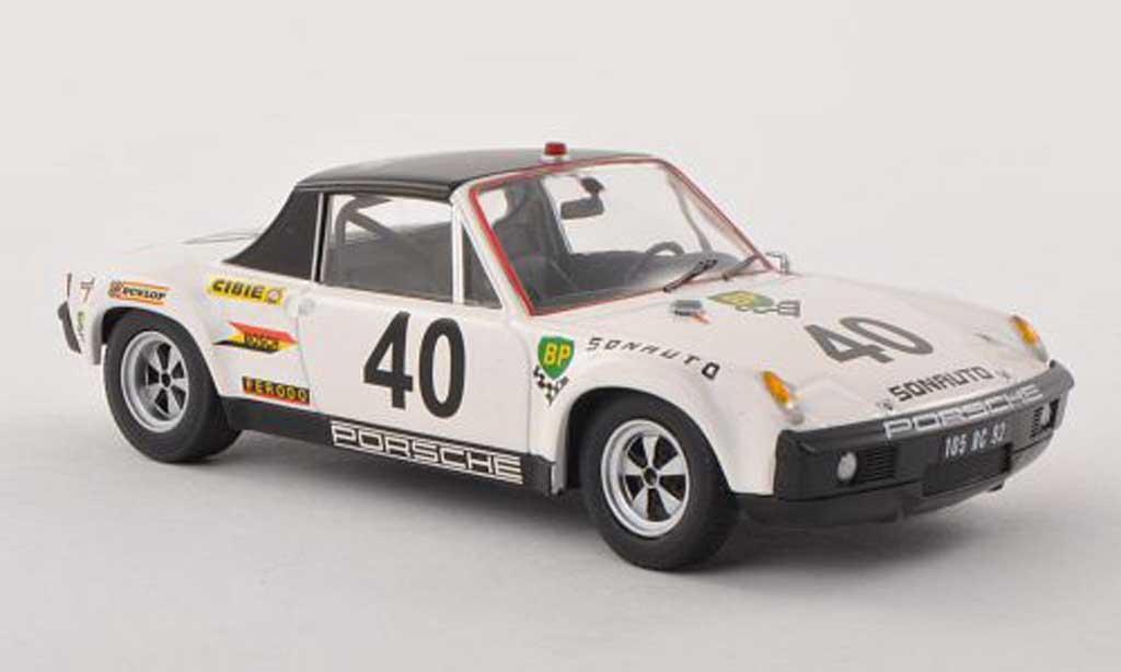 Porsche 914 1/43 Schuco 6 No.40 Sonauto 24h Le Mans 1970 G.Chasseuil/C.Ballot Lena miniature