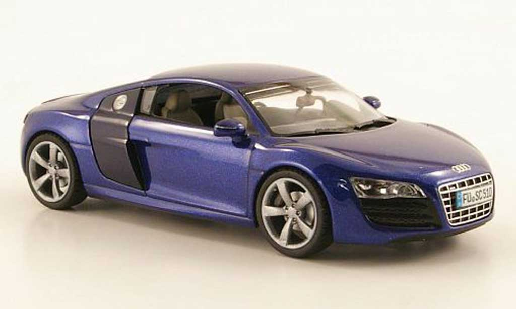 audi r8 5 2 fsi miniature v10 bleu schuco 1 43 voiture. Black Bedroom Furniture Sets. Home Design Ideas