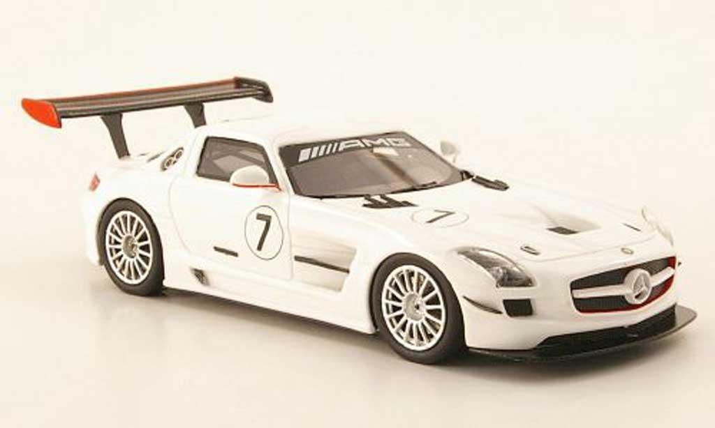 Mercedes SLS 1/43 Schuco AMG GT3 No.7 blanche 2010 miniature