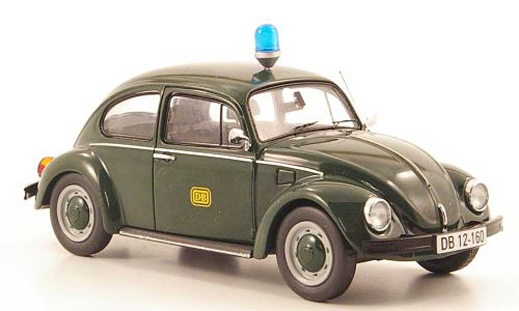 Volkswagen Kafer 1/43 Schuco DB Bahnpolizei miniature
