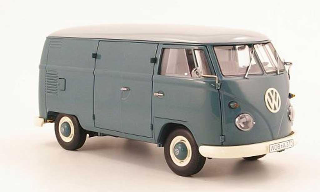 volkswagen combi miniature t1 kasten bleu et grise schuco 1 18 voiture. Black Bedroom Furniture Sets. Home Design Ideas