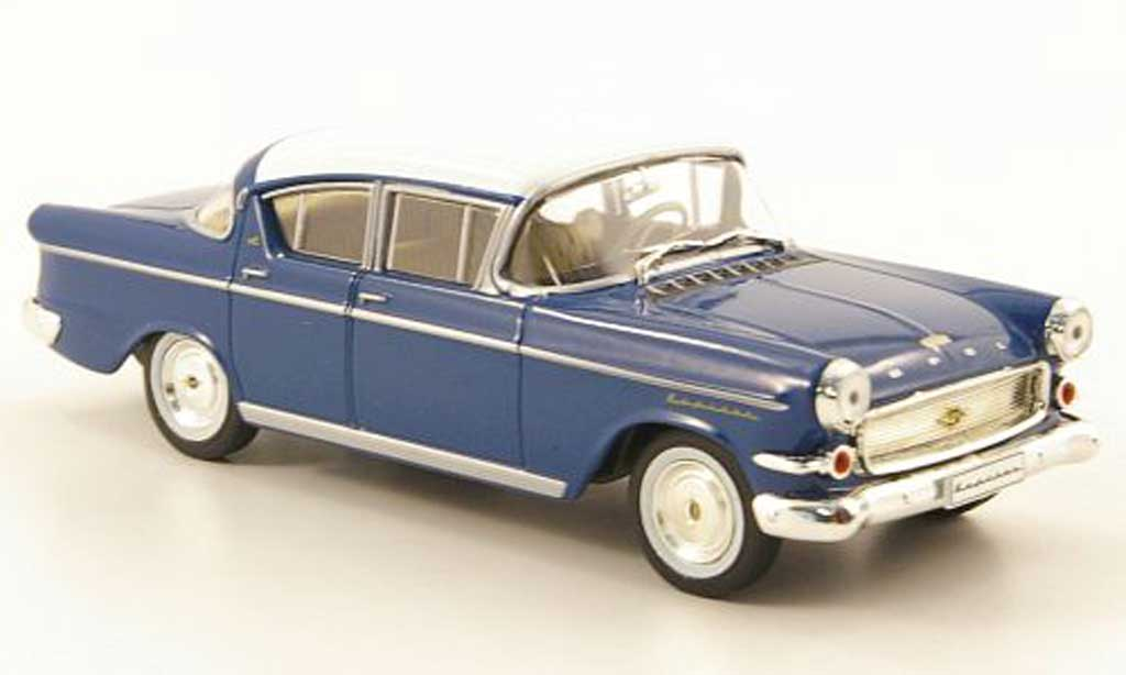 Opel Kapitan 1/43 Hachette P2.5 L bleu/blanche (ohne Magazin) 1958 miniature