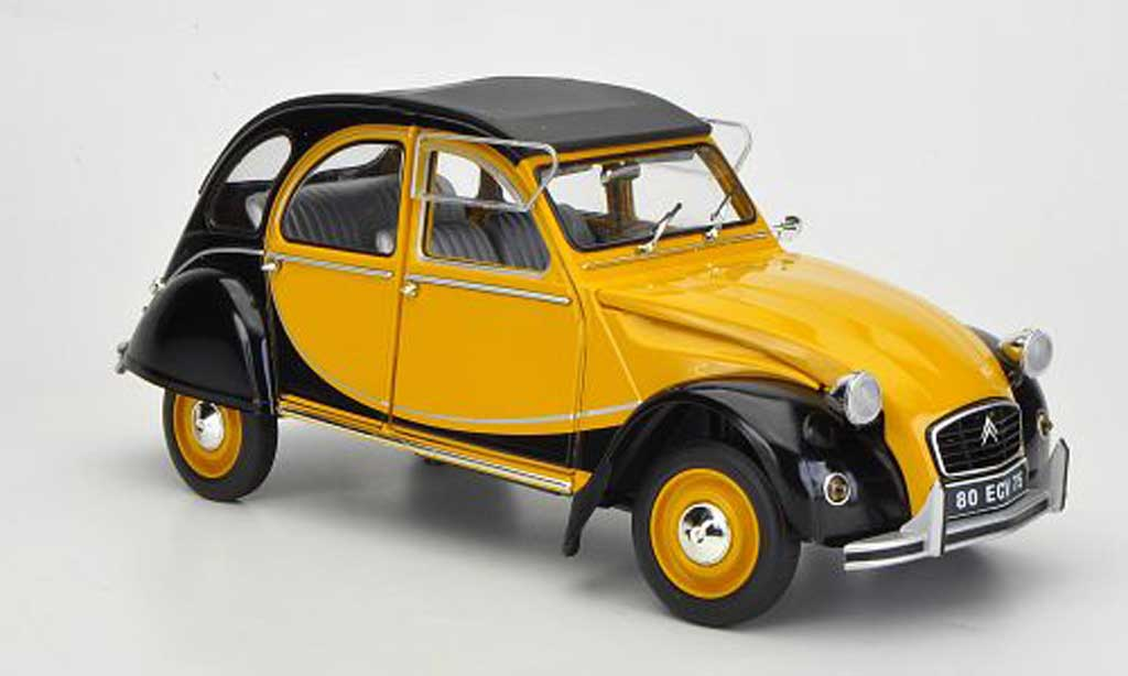 citroen 2cv charleston yellow black 1982 solido diecast. Black Bedroom Furniture Sets. Home Design Ideas