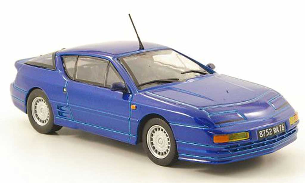 Alpine A610 1/43 Solido bleu 1991 diecast model cars