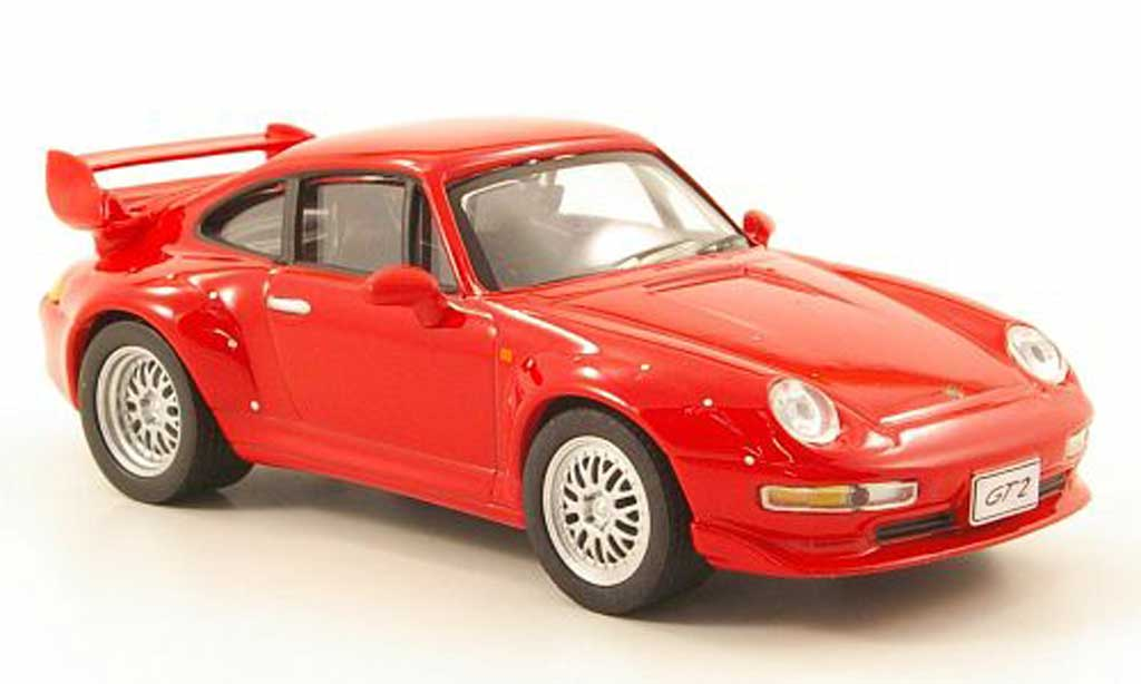 Porsche 993 GT2 1/43 Solido rouge 1996 miniature